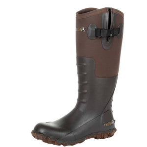 Rocky Women's Core Chore Rubber Outdoor Boot Dark Brown