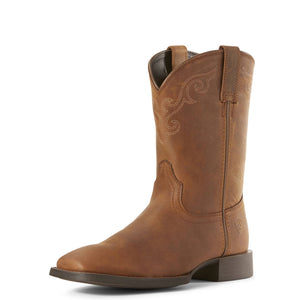 Ariat | Women's Roper Wide Square Toe Distressed Brown