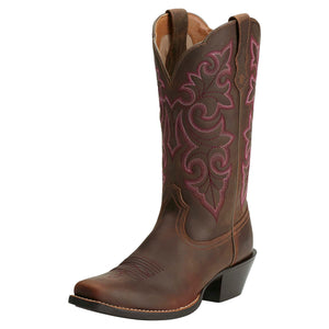 Ariat Boots | Women's Western Cowgirl | Round Up Square Toe | Front | Outback Traders Australia