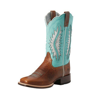 Ariat | Women's Solana Venttek Brown Patina/Aruba Blue - Outback Traders Australia