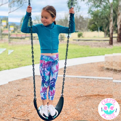 owlete activewear for young active girls who want to stand out from the crowd and mums who want them to be covered up properly