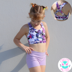 midnight rain forest crop top for girls with better body coverage pretty design cute straps from owlete active