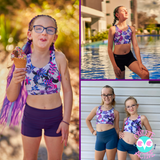 Tropical Shorts + Crop SET