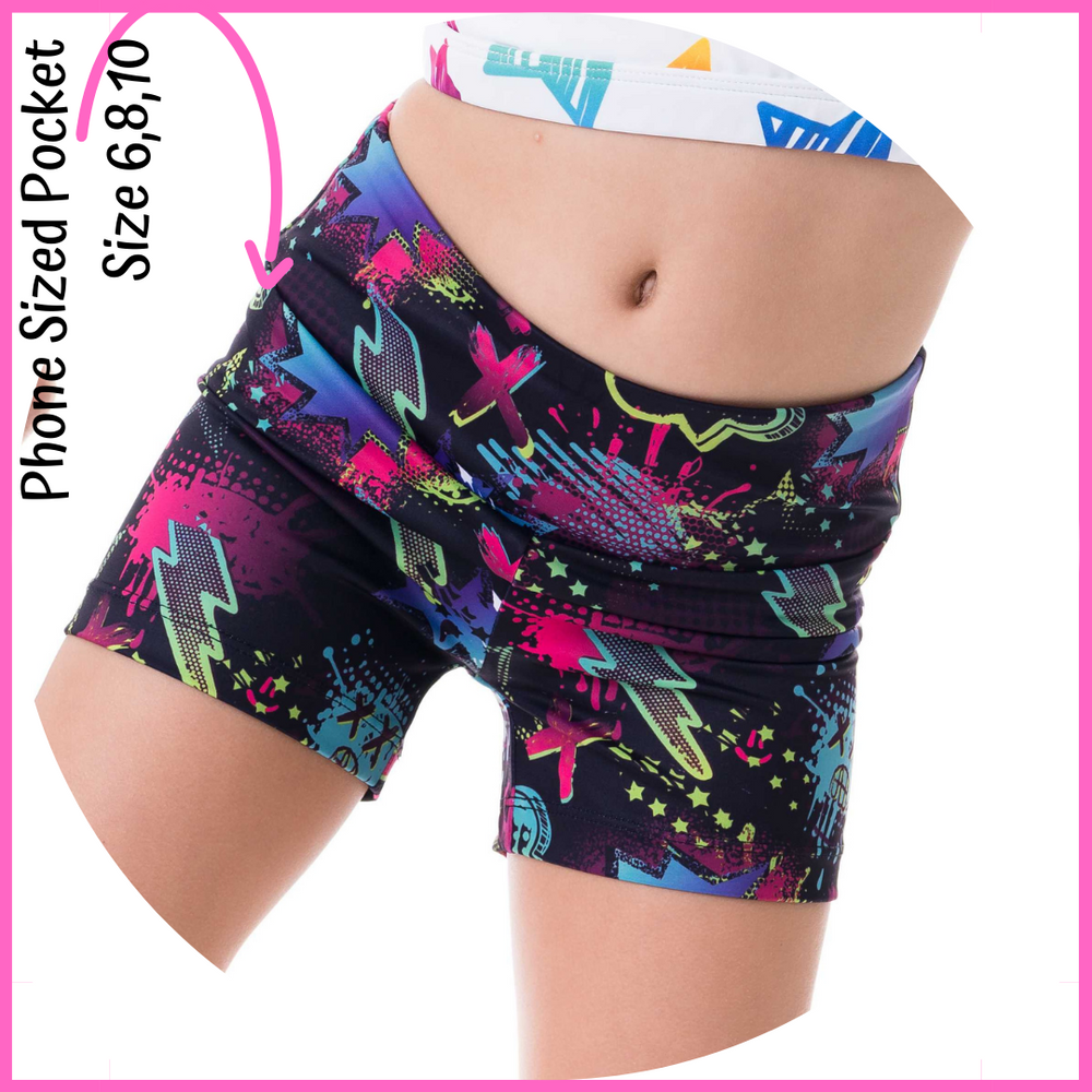 owlete active graffiti art spray paint bright coloured details very comfortable with high quality long lasting kids activewear better body coverage