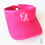bright pink visor hat for young girls sun safety comfortable fit velcro free long hair friendly