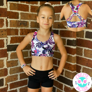 owlete active kids activewear for girls who love gymnastics crop tops and super cute strap detailing