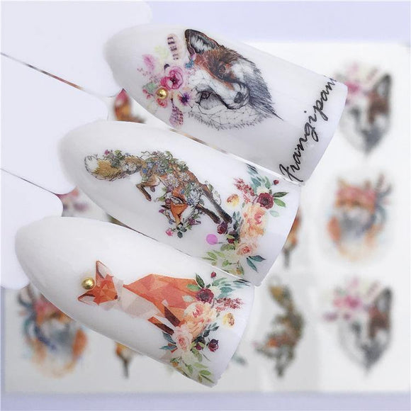 Nail Art Sticker Beautiful Cute Cat Elk Christmas