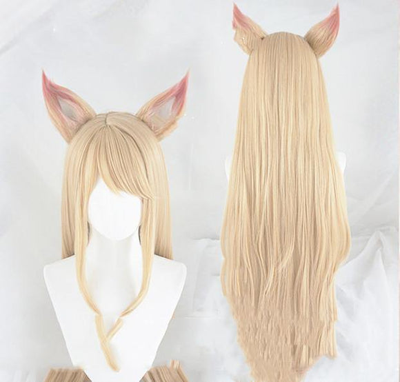 League of Legends raccoon ears cosplay wig