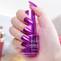 Mirror silver nail polish metal color stainless steel