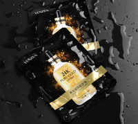 24K gold hyaluronic acid hydrating and brightening masks
