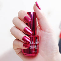 Metal Color Mirror Silver Nail Polish - thefreshdailies