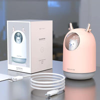 Mini portable aromatherapy hydrating air purifier
