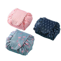 Large Capacity Drawstring Women Polyester Cosmetic Case