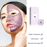 Eggplant Extract Mud Cream Deep Cleansing Facial Mask for Oil Control, Acne, Blackheads