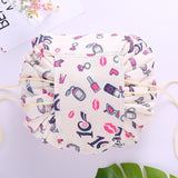 Large Capacity Drawstring Women Polyester Cosmetic Case - thefreshdailies