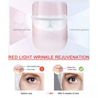Hot & latest skincare beauty product | Total Skin Rejuvenation LED 3 Colors Photon Therapy Mask