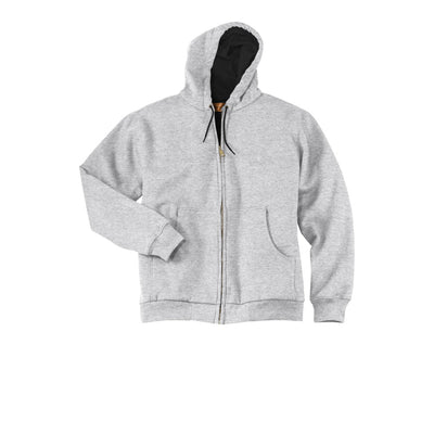 CornerStone Men's Heavyweight Full-Zip Hooded Sweatshirt with Thermal Lining - CS620