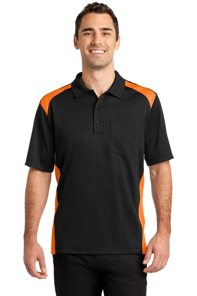 CornerStone Men's Select Snag-Proof Two Way Colorblock Pocket Polo - CS416
