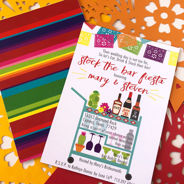 Fiesta Stock the Bar Custom Invitations