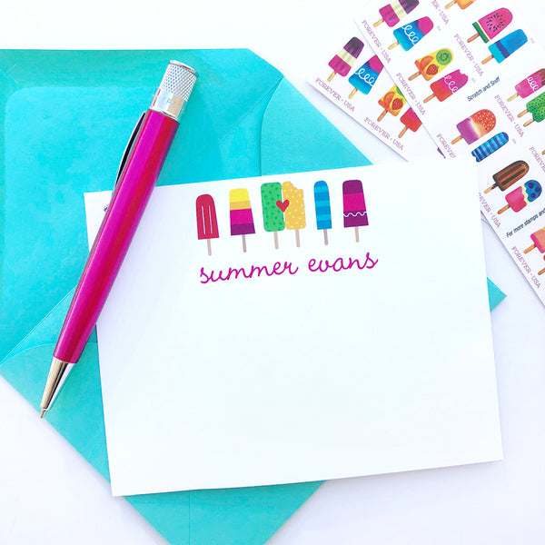 SWEET Summer Stationery with Stamps to Match
