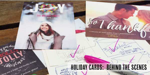 Holiday Photo Cards:  Behind the Scenes