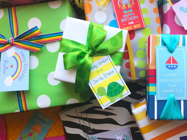 Signature Gift Wrap - Making Kids Parties Easy
