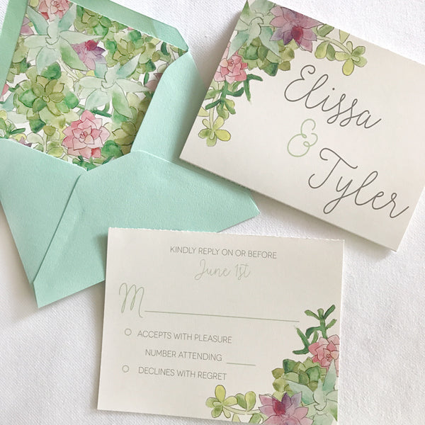 Elissa & Tyler's Custom Invitation