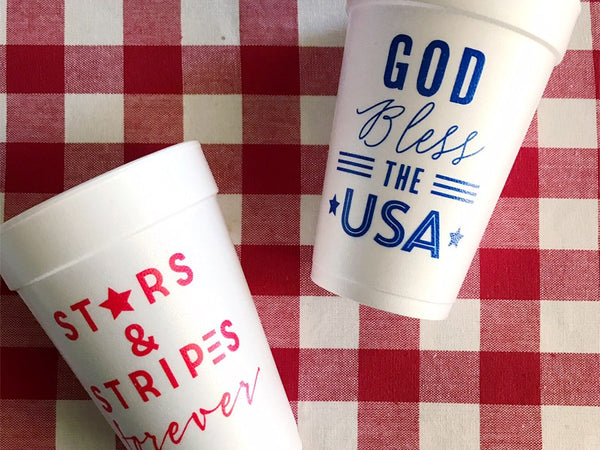 Behind the Scenes:  Patriotic Cups