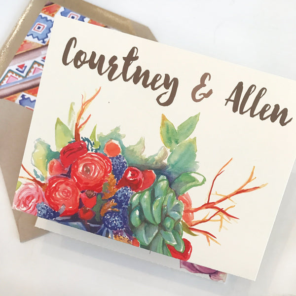 Courtney & Allen's Wedding Invitations
