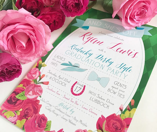 Kentucky Derby Graduation Party Invitations