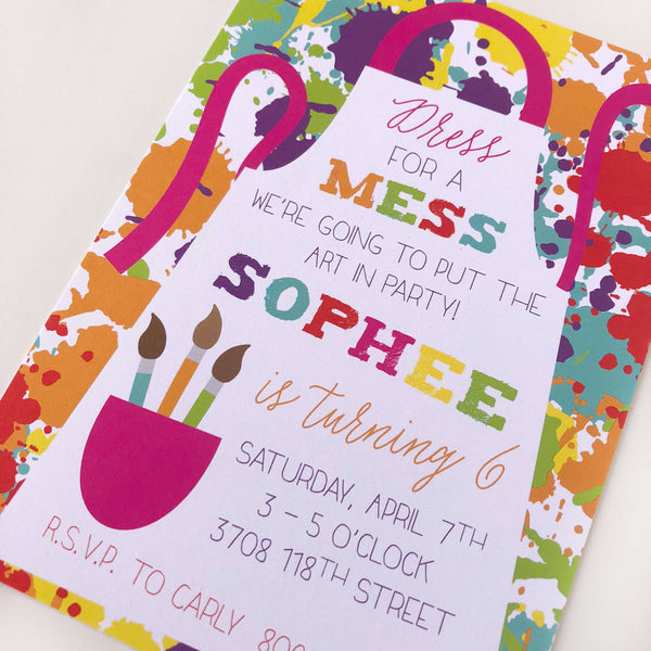Painting Party Custom Invitations