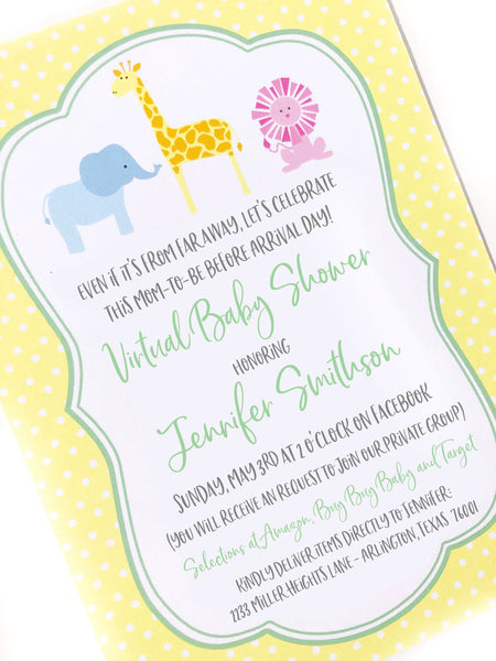 virtual baby shower invitation by barquegifts.com