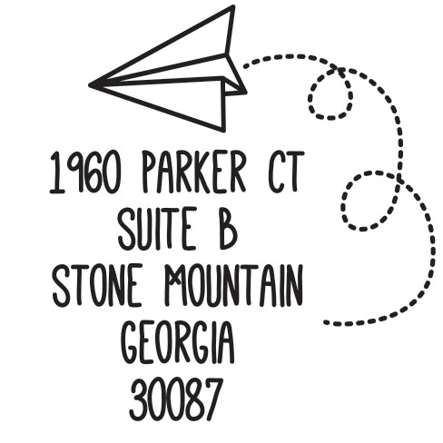 Paper Plane Self-Inking Stamp