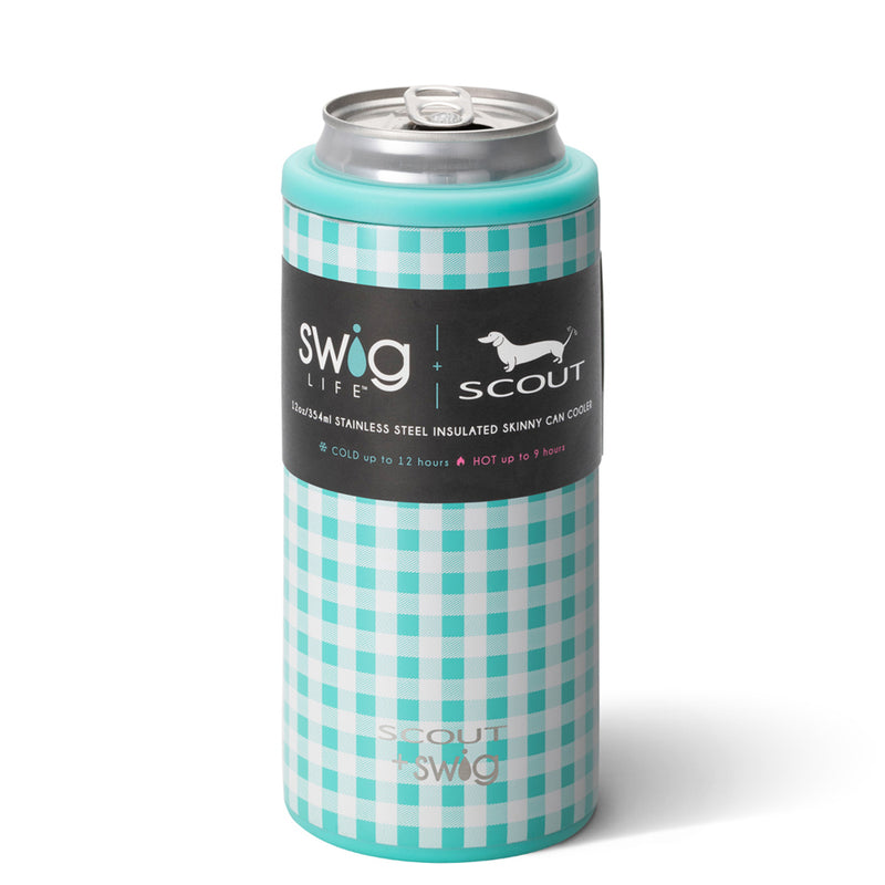 scout patterned skinny can cooler on barquegifts.com