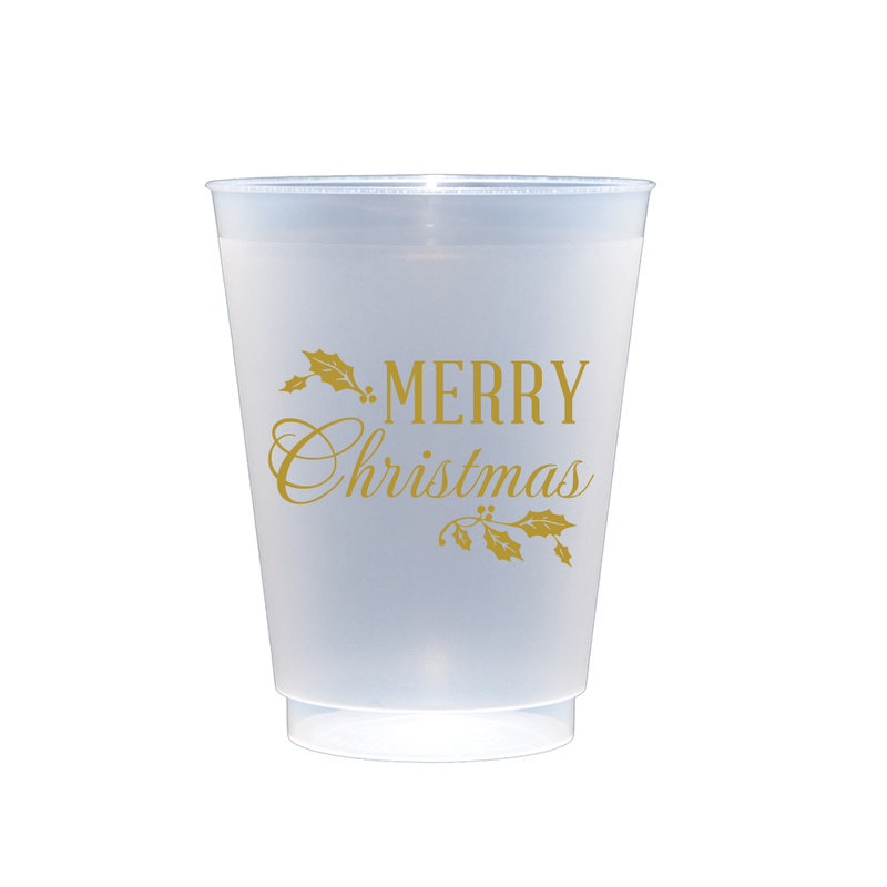 Merry Christmas Shatterproof Cups (16 oz)