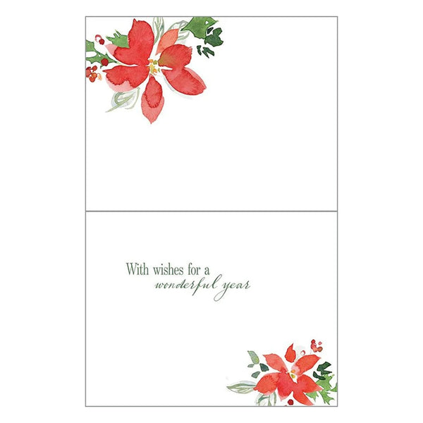3 Poinsettias Boxed Christmas Cards (box of 10)