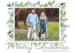Lovely Greenery Holiday Photo Card