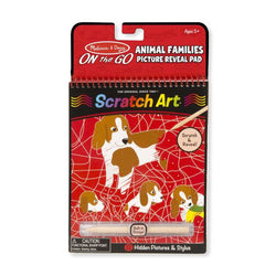 Animal Family Scratch Art Pad