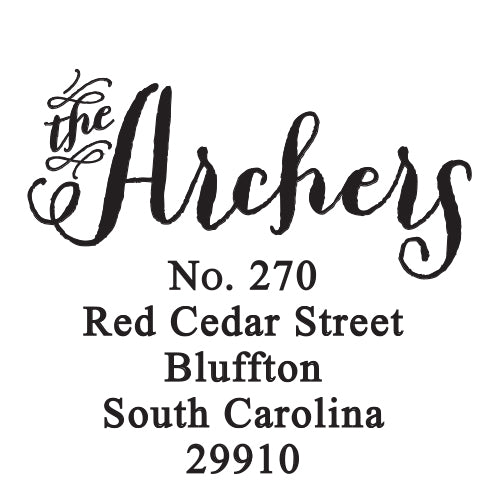 Archer Self-Inking Stamp
