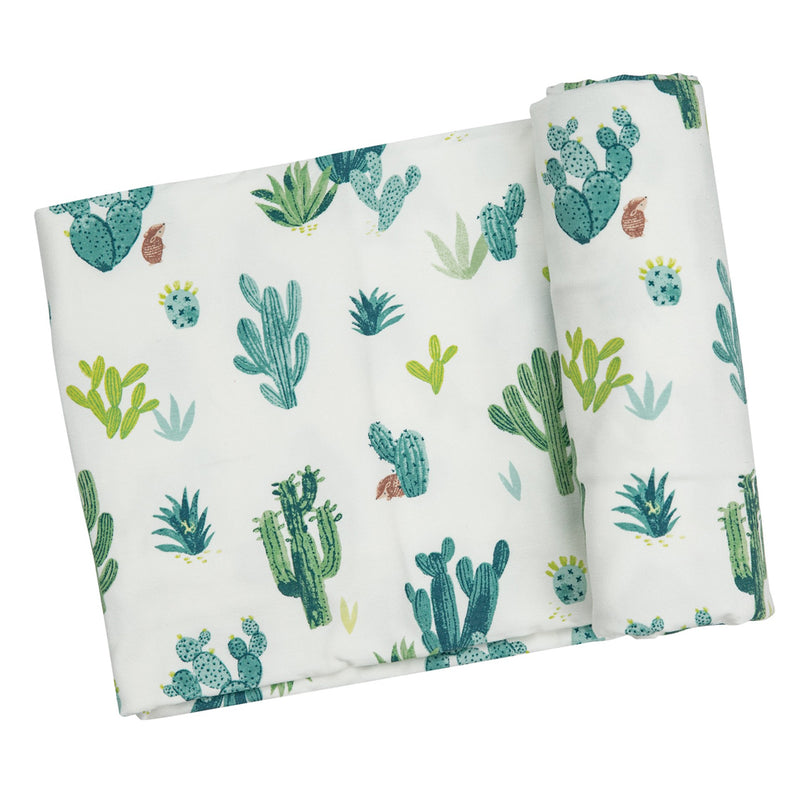 Cactus Swaddle Blanket at barquegifts.com