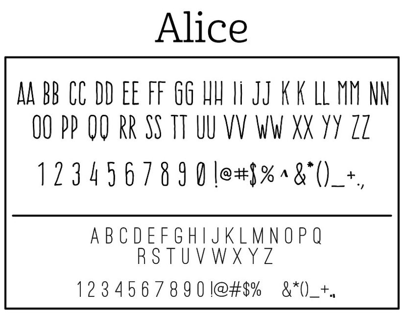 Alice Self-Inking Stamp