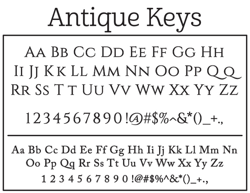Antique Keys Self-Inking Stamp