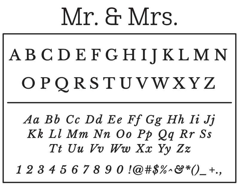 Mr. & Mrs.  Self-Inking Stamp