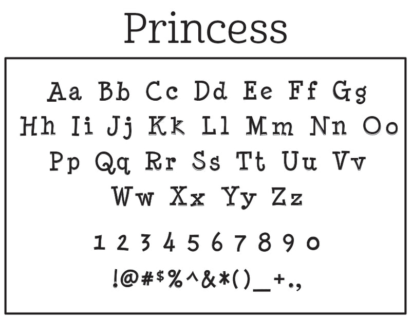 Princess Self-Inking Stamp