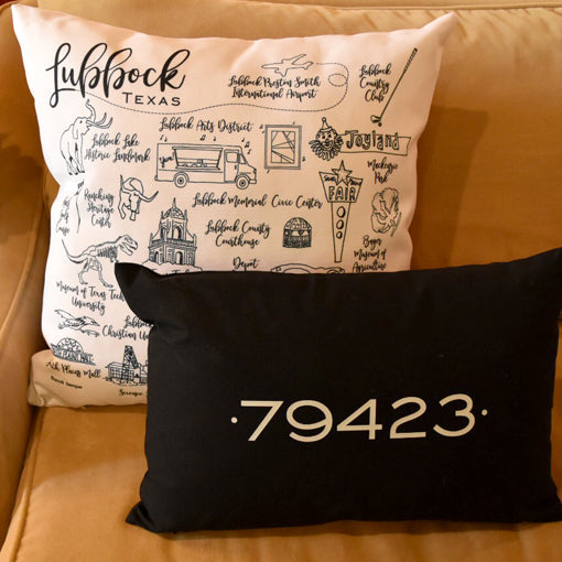 lubbock pillows on barquegifts.com