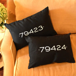 zip code pillows on barquegifts.com