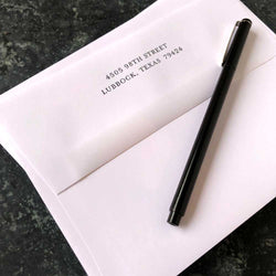Return Address on Envelope Flap