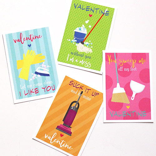 cleaning punny valentines on barquegifts.com