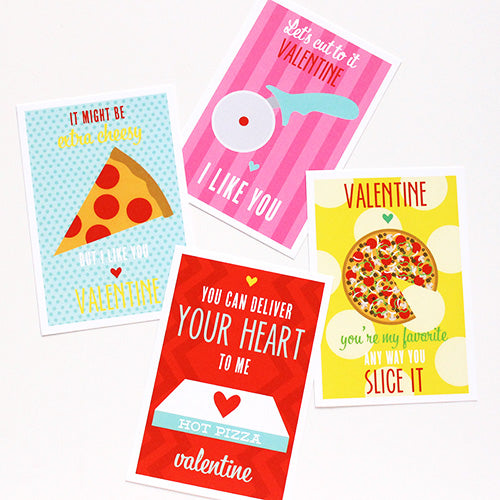 pizza punny valentines on barquegifts.com