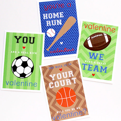 sports punny valentines on barquegifts.com